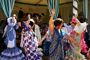 Ladies dancing the Sevillana