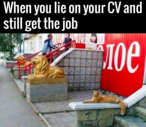 When you lie on your CV and still get the job
